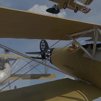 Jean paul genty 21 08 16 2 albatros dv a patrouille artstation