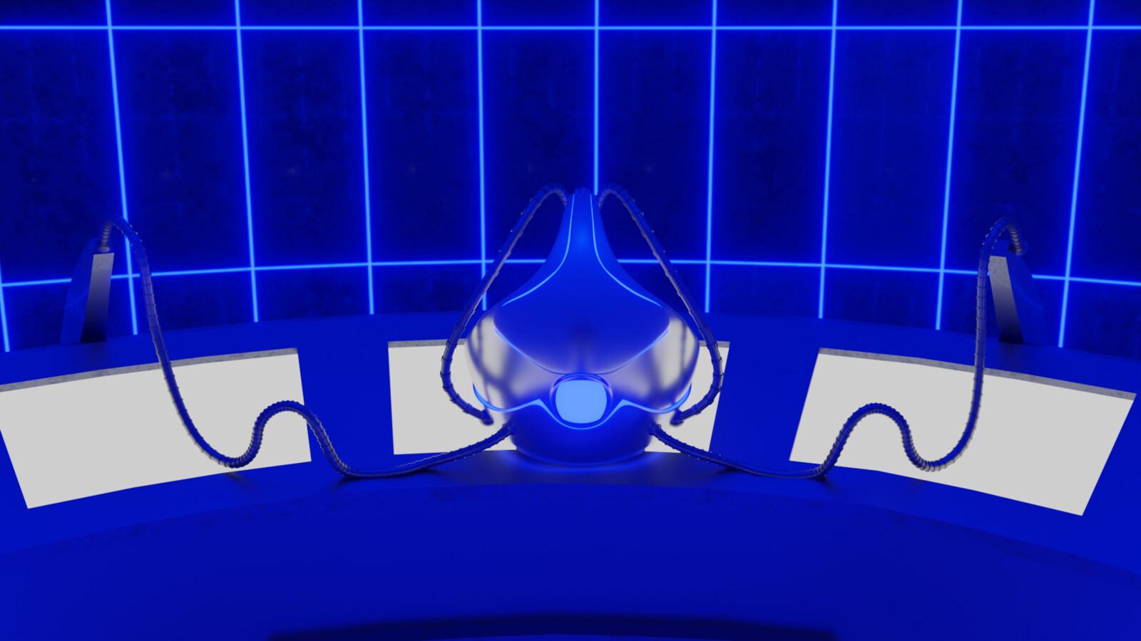 3D Cerebro- Cerebro helmet close view