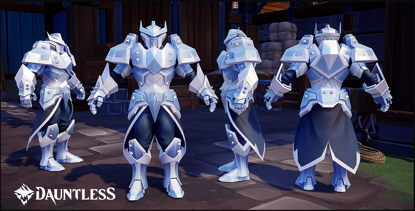 Victorious Armor.  Purchasable reward for competing in the The Island of Trials