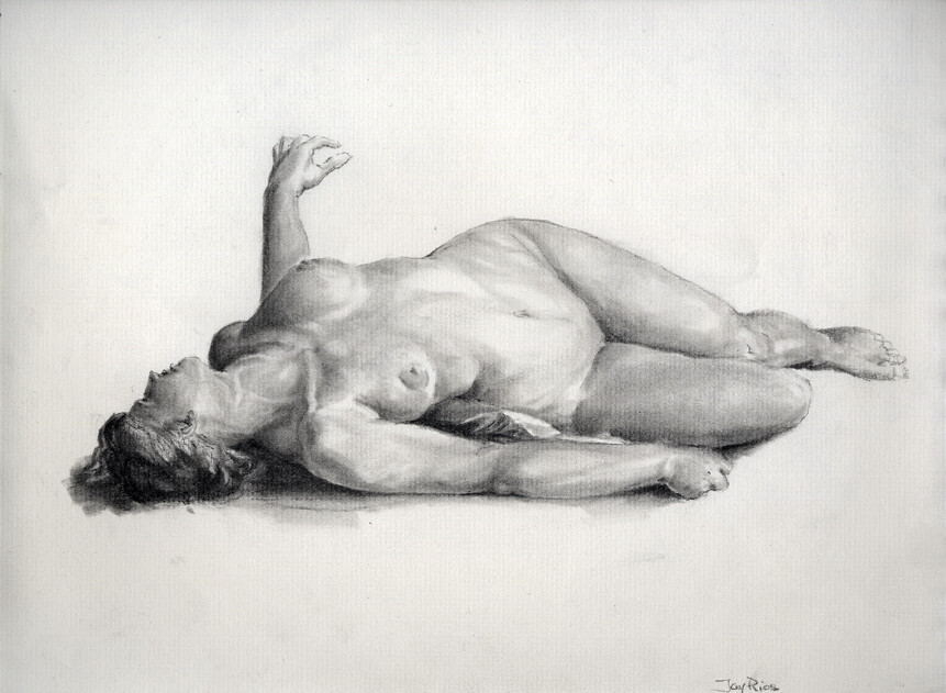 Charcoal, master copy after Charles Gleyre