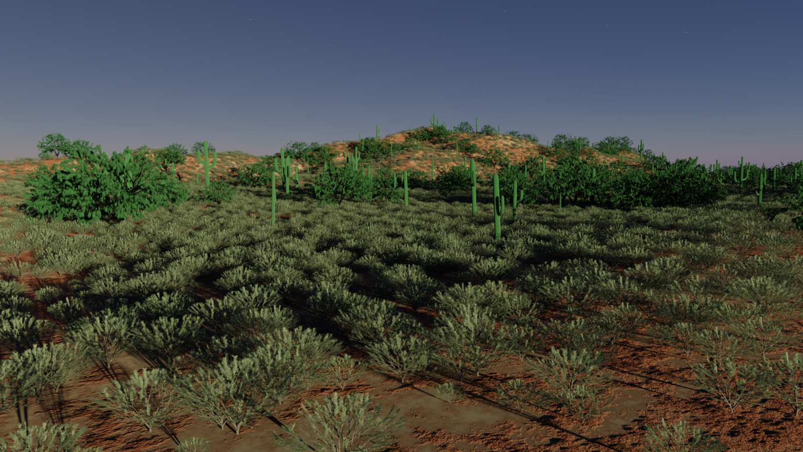 Test Scene in daylight to check scattering