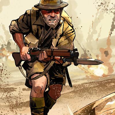 Chaim garcia achtung cthulhu soldier chaimgarcia