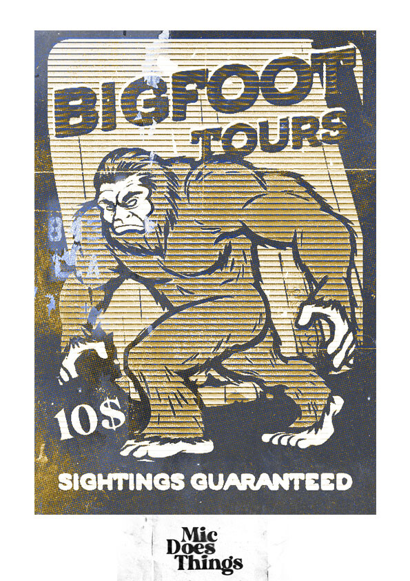 Big Foot Tours - Vintage Poster