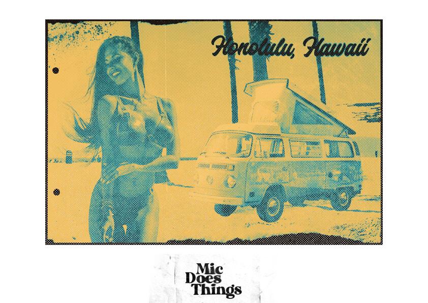 Honolulu, Hawaii - Vintage Poster