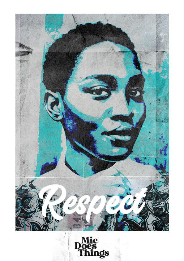 Respect - Vintage Poster