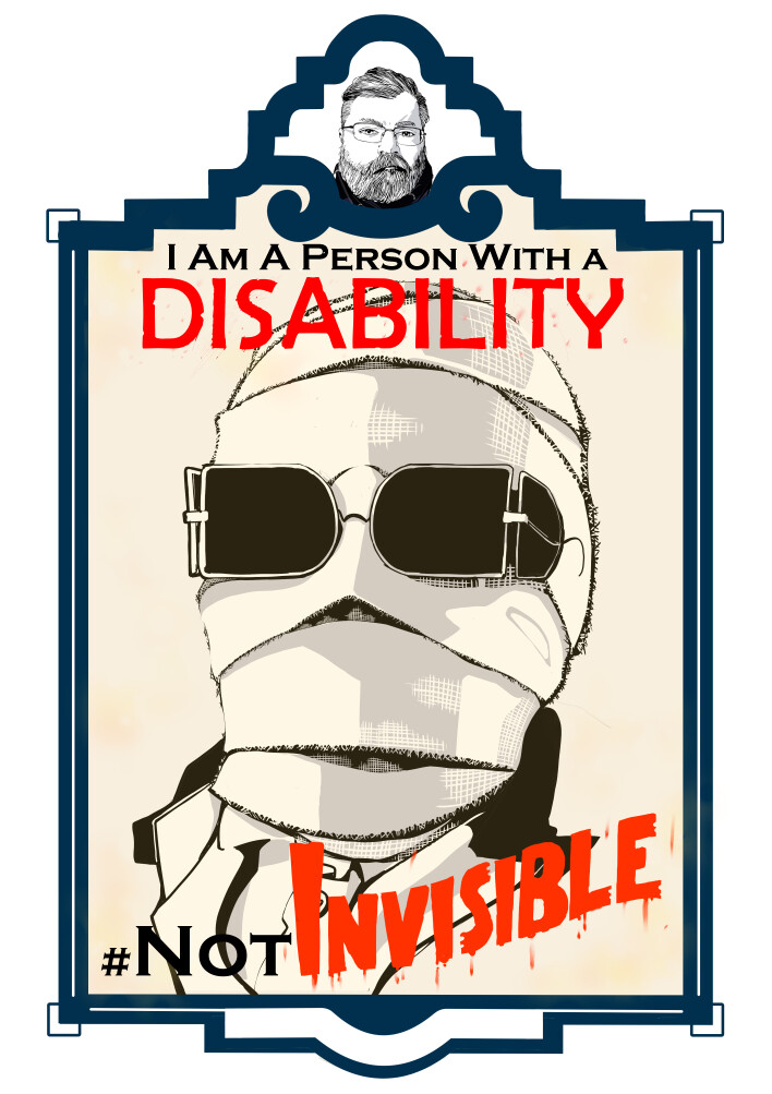 I am a person with a disability #NotInvisible.
