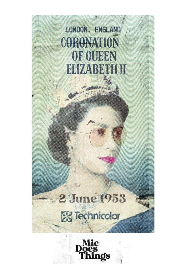 Queen Elizabeth II Coronation - Vintage Poster