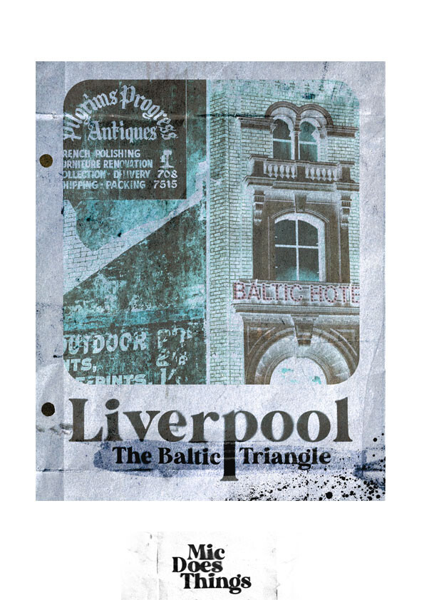 Liverpool The Baltic Triangle - Vintage Poster
