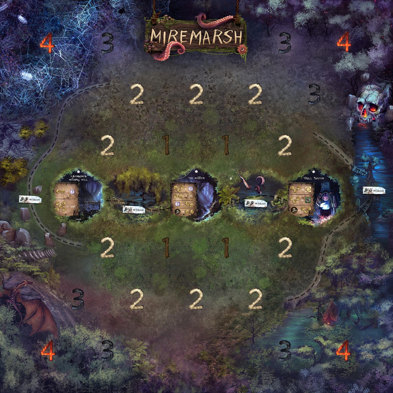 Miremarsh Game Board Design