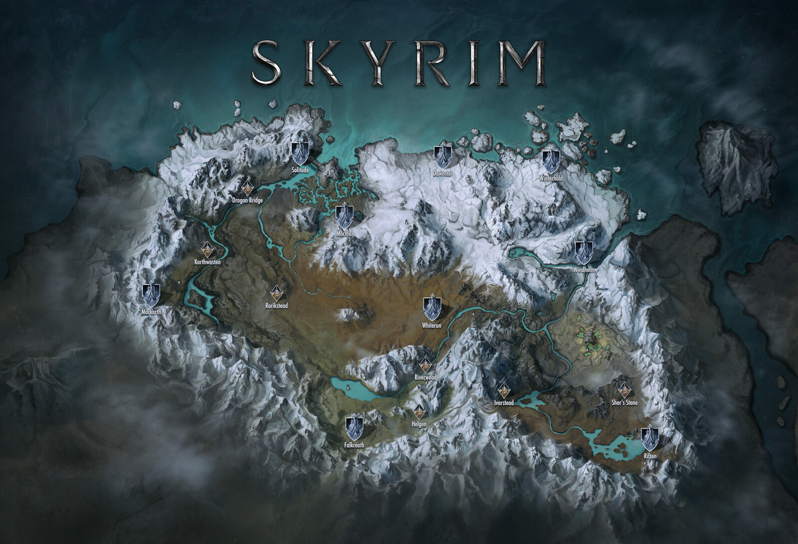 Skyrim World Map