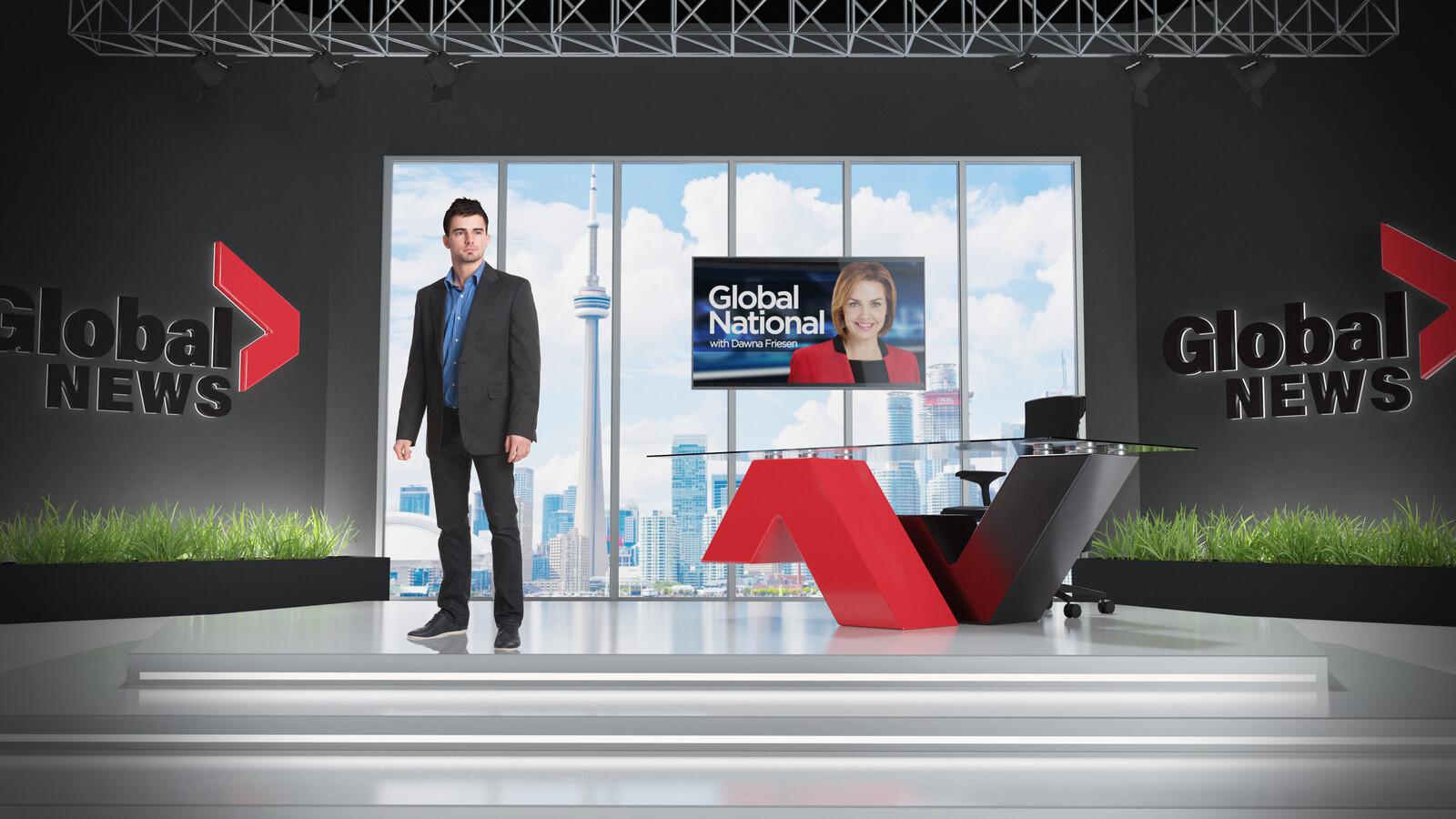 Television News Set Concept