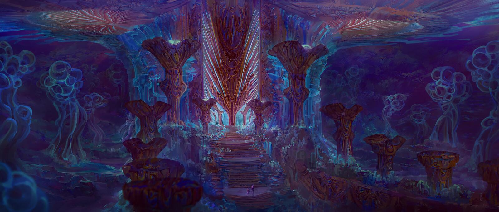 Aquatic Fungal World-Alien Temple