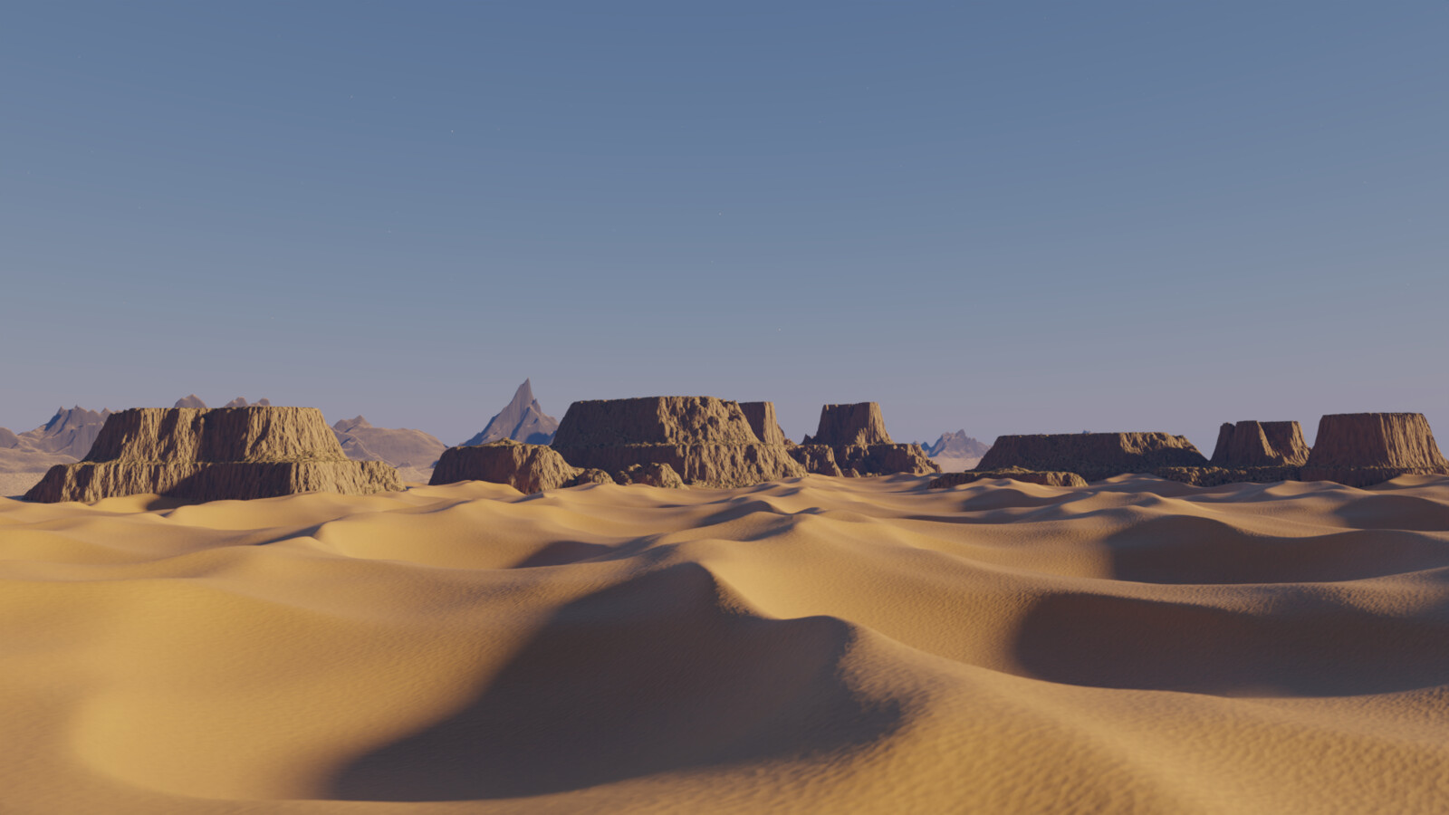 After color tweaking, additional landscapes, texture and atmosphere tweaking