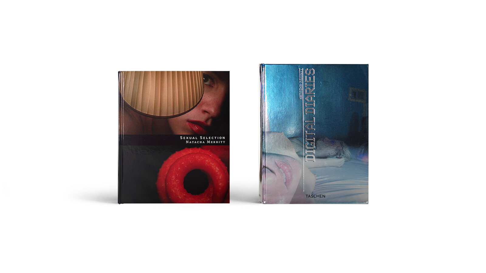 Refreshed book mockups of Merritt's two published art books.