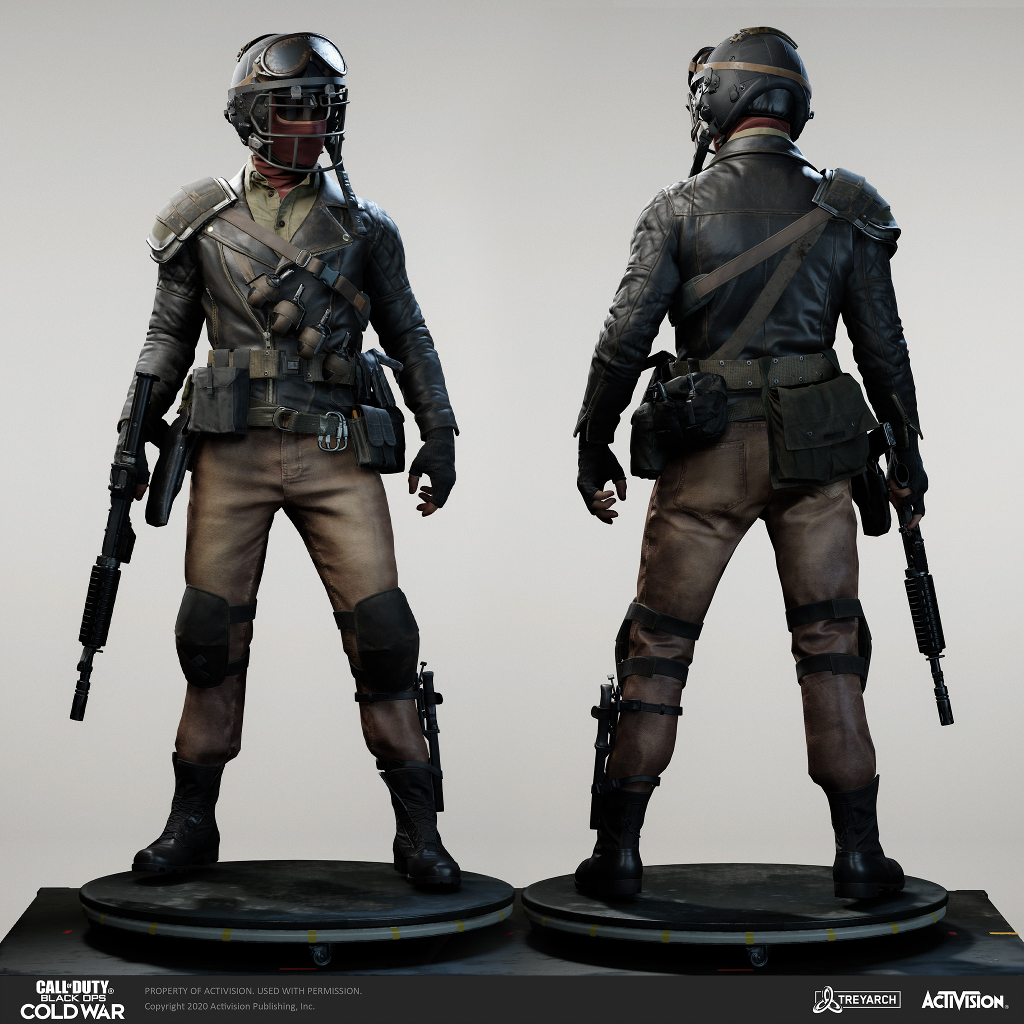 Skin for Harry Stone operator - Line Backer.  I was responsible for the design, game mesh assembly, and textures/materials. Individual models/bakes used on the character were created by the Treyarch, SHG, Raven, and OS teams.