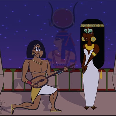 Larry springfield jr hathor watches over the two lovers by 0ne0nlylarry dc9nifv