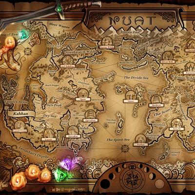 Magical kaleidoscope map nuat world