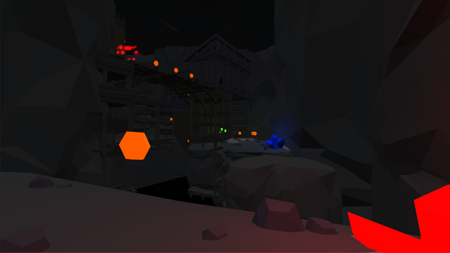 A tunnel in the mines section that the player needs to move through to reach the upper section.