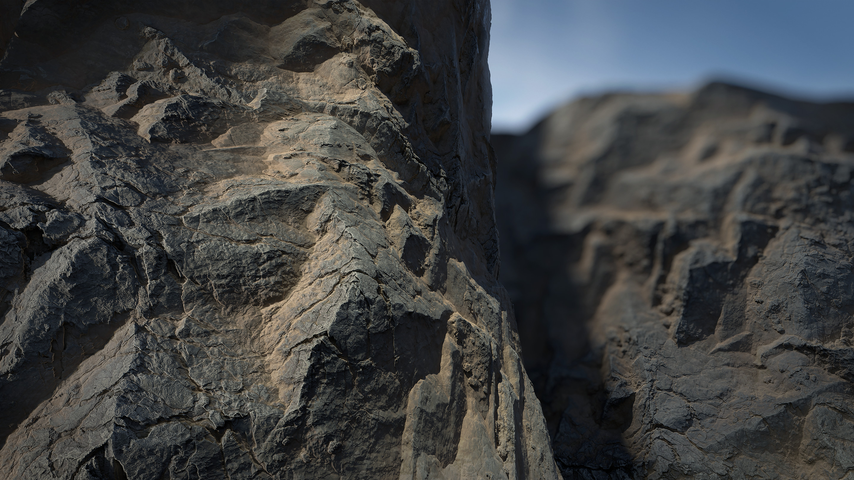 Mountain Cliff Study made 100% in Substance Designer and rendered in Marmoset Toolbag 4.