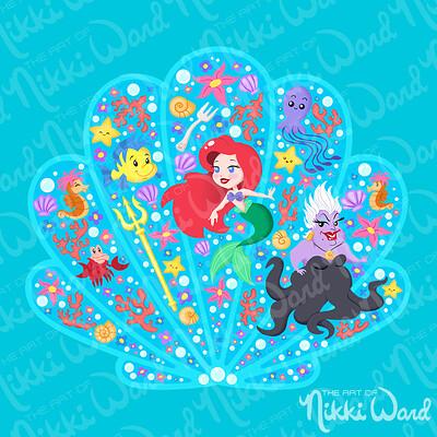 Nikki ward display collage mermaid