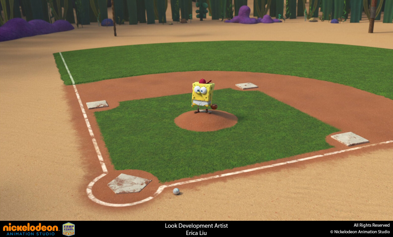 Responsible for look development and texture of Baseball field set