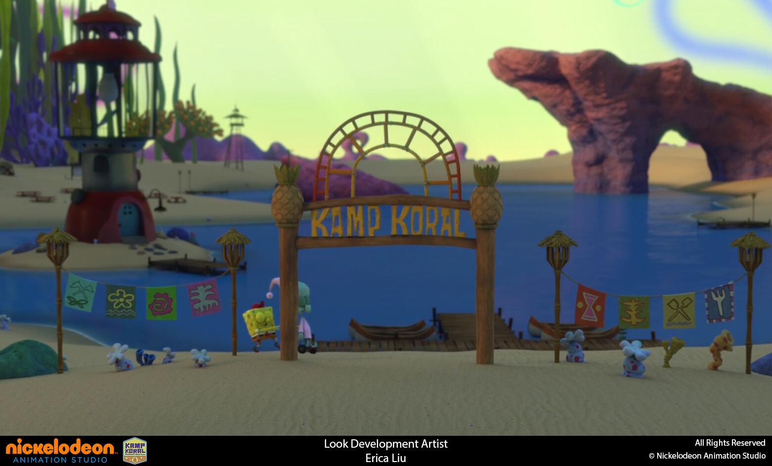 Textured gateway to Kamp