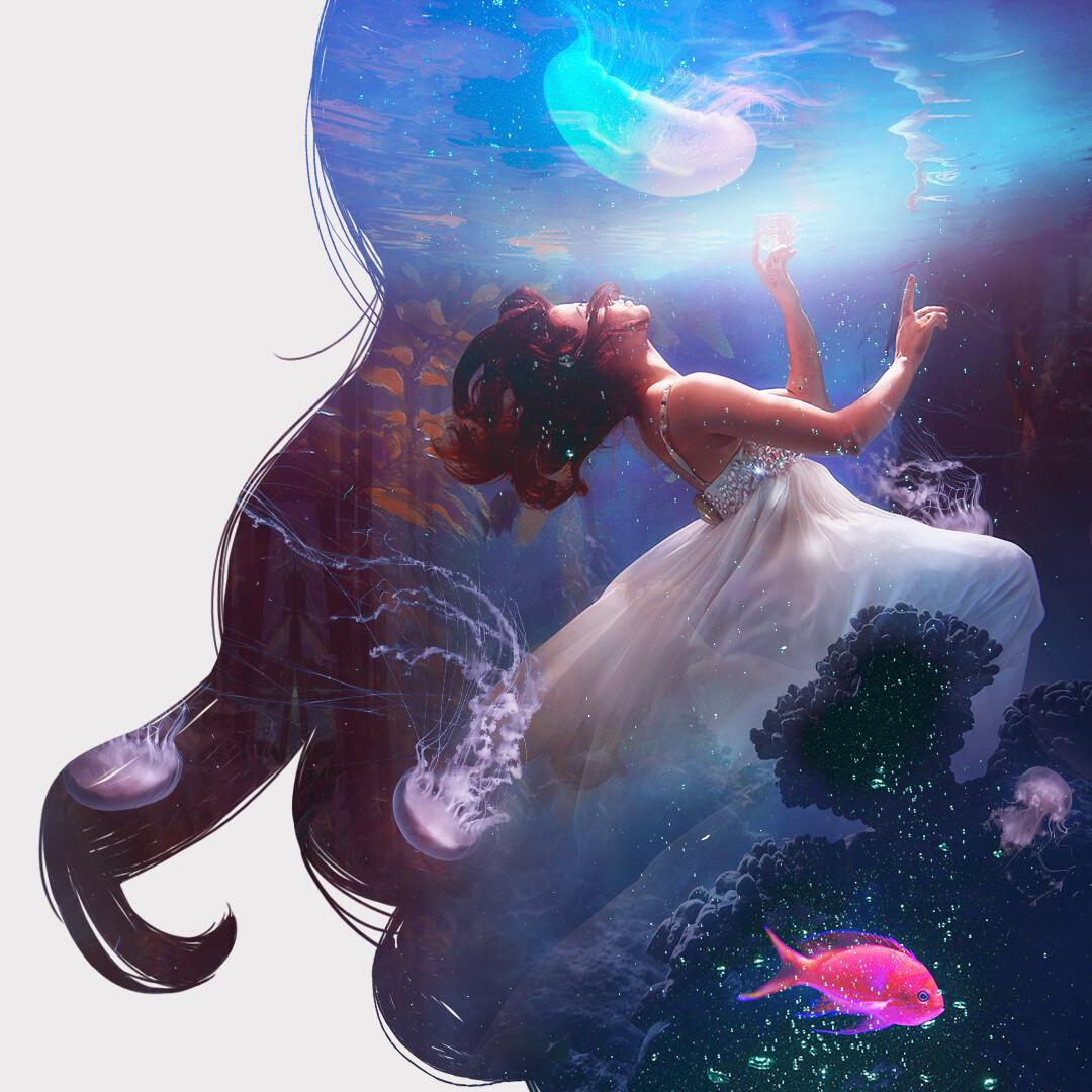 Underwater experiment.