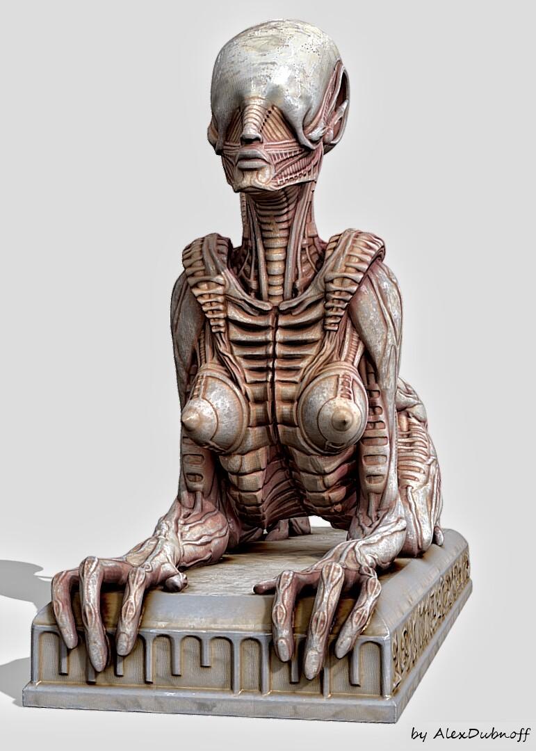 Alien sphinx