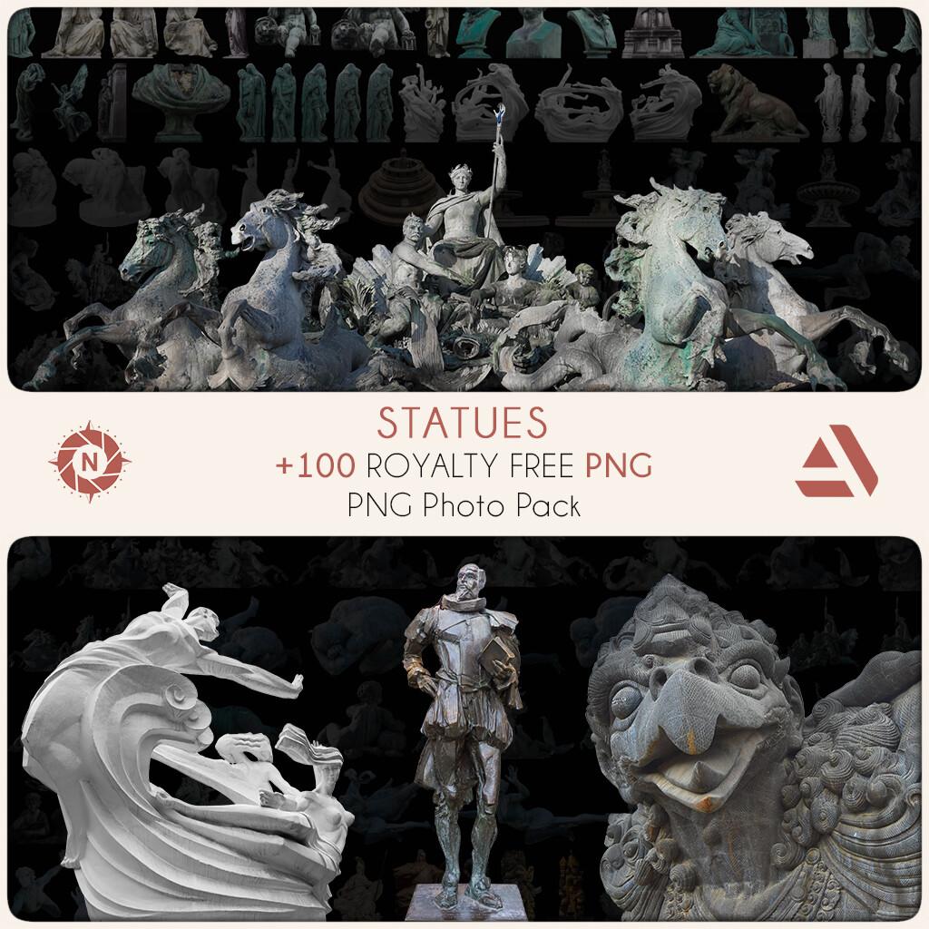 PNG Photo Pack: Statues   https://www.artstation.com/a/7949085