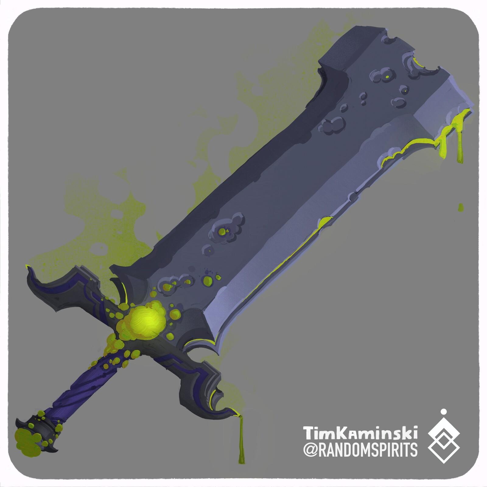 Swordtember 2021 Day 2 💚Caustic💚