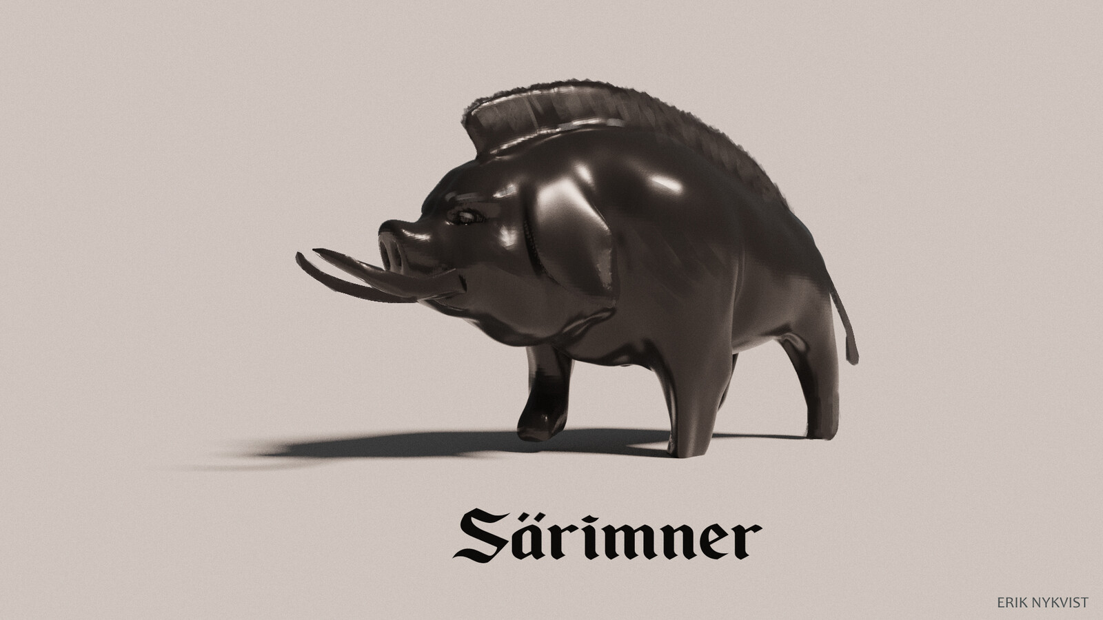 Statue of särimner the great pig.