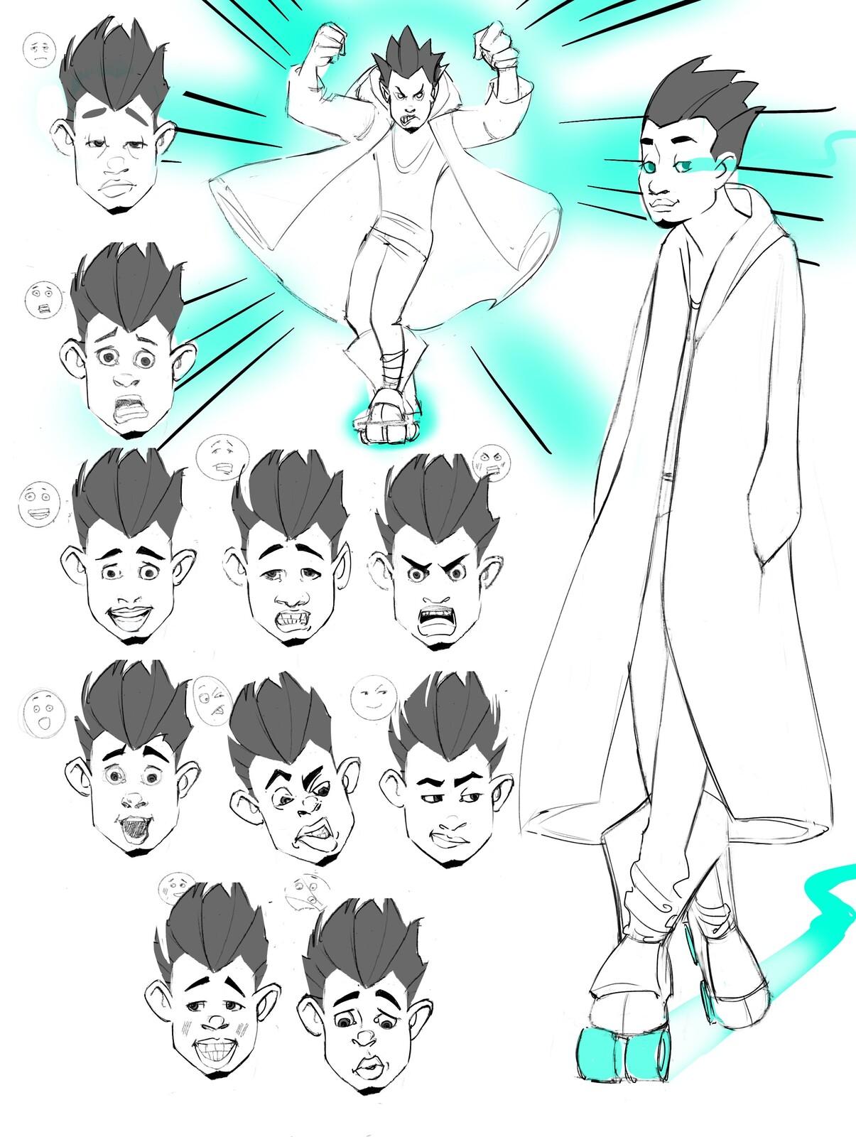 Flow-Isaiah Character Facial Emotion Sheet