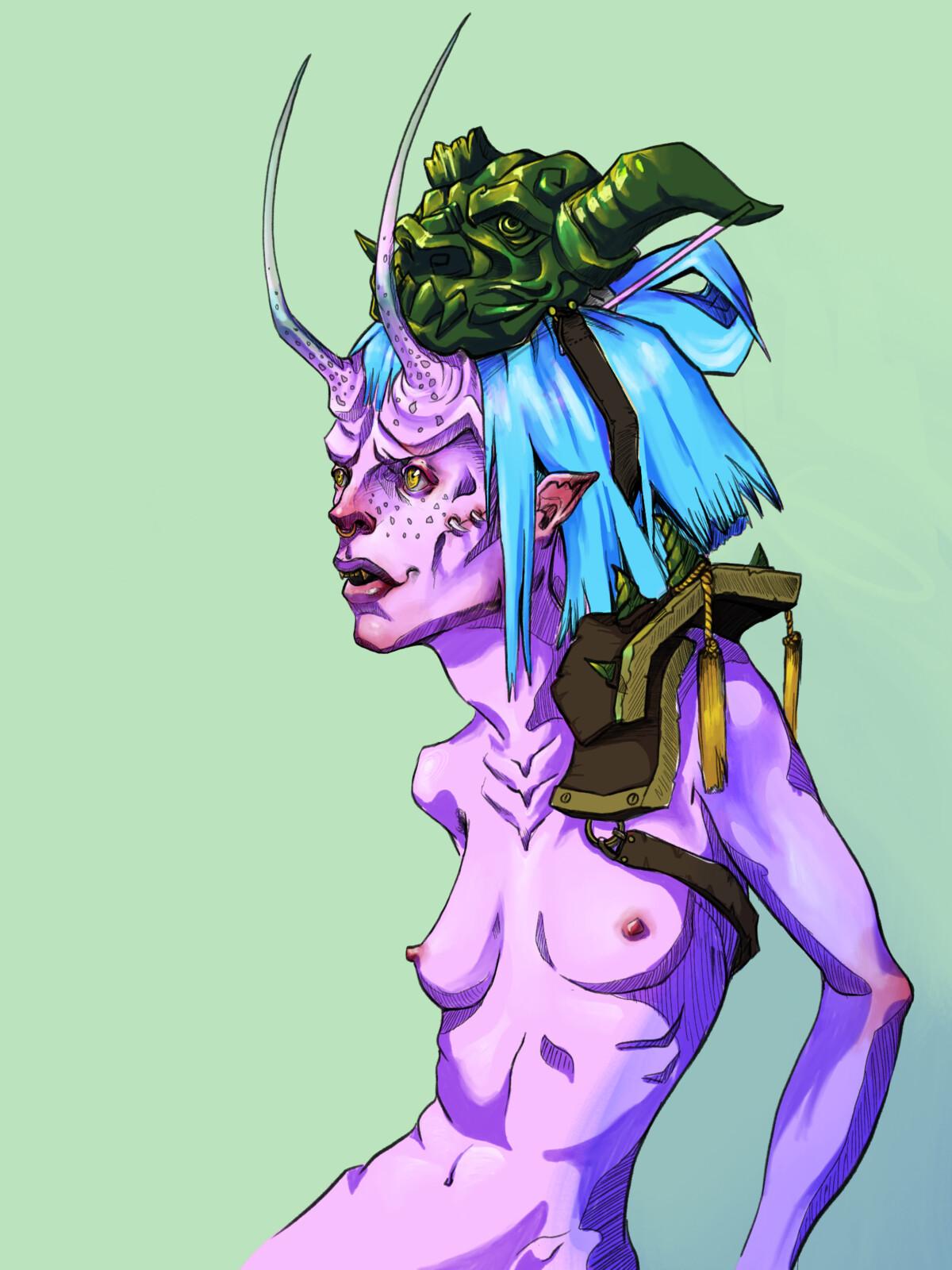 Green Mask NSFW