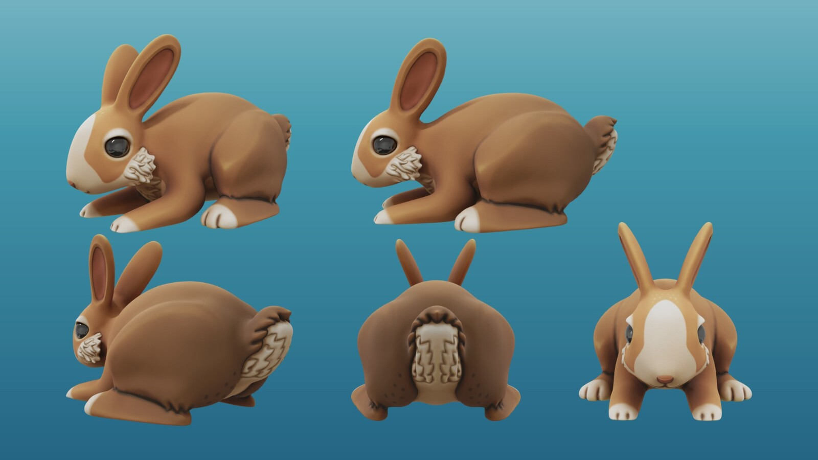 Handpainted Rabbit