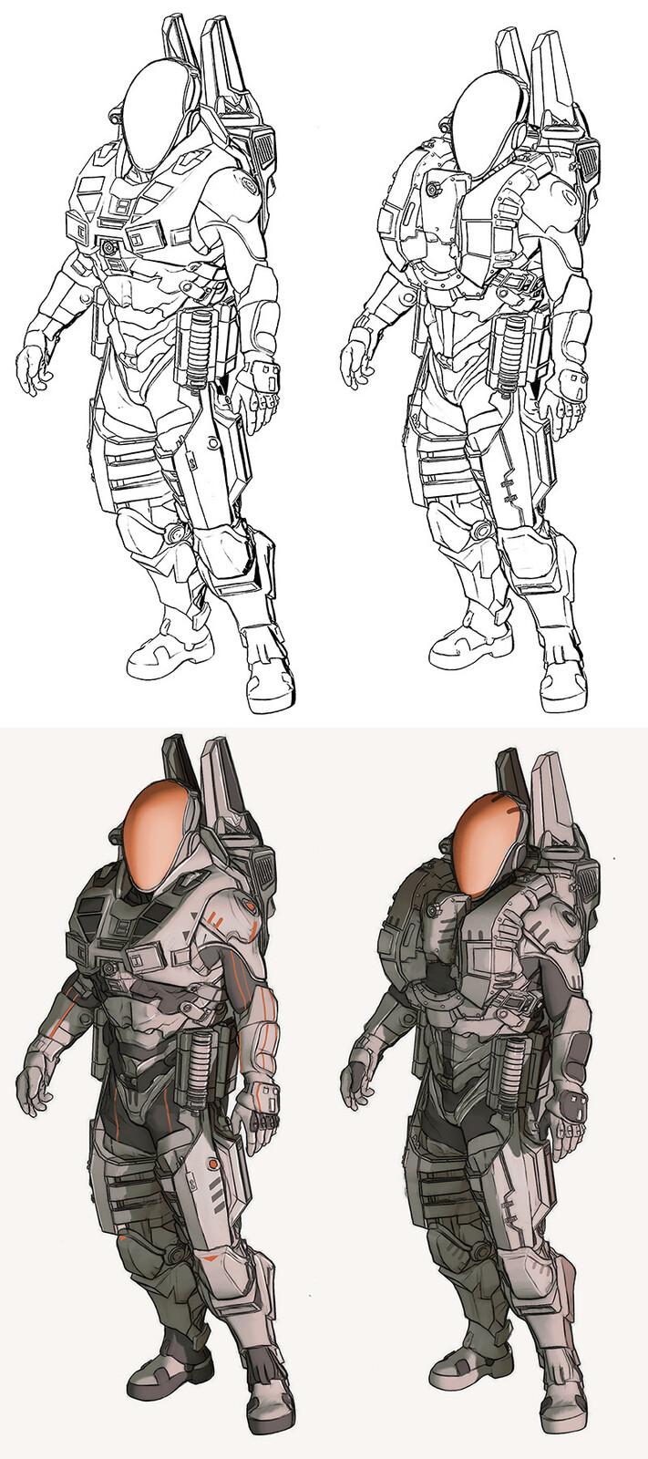 Scifi Suit Concept Art