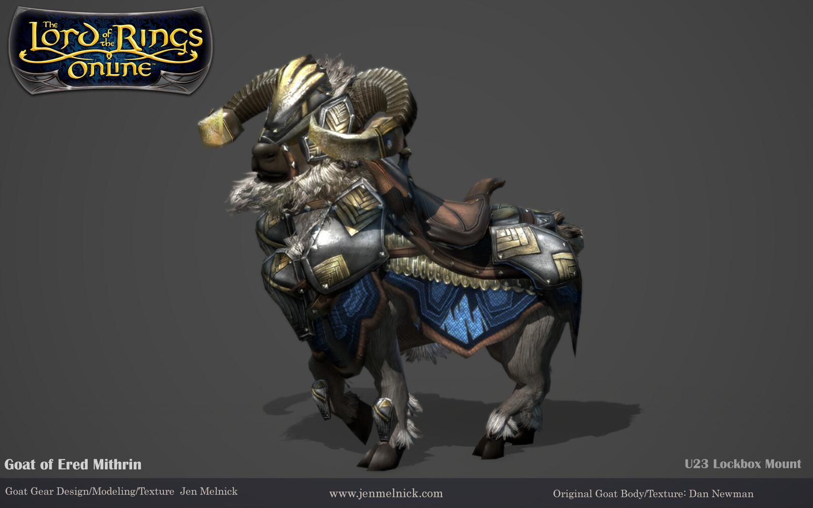 U23 Lockbox Mount Goat of Ered Mithrin Marmoset render