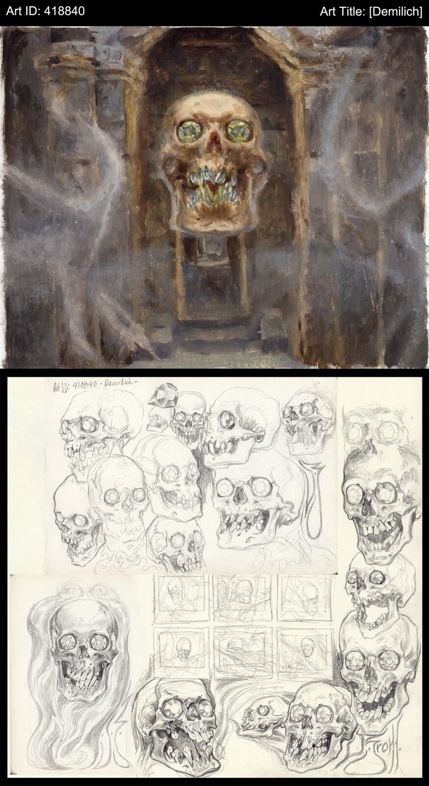 Color sketch: Oils on paper, 17 x 14cm
