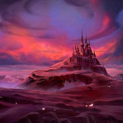 Nele diel castle at dusk