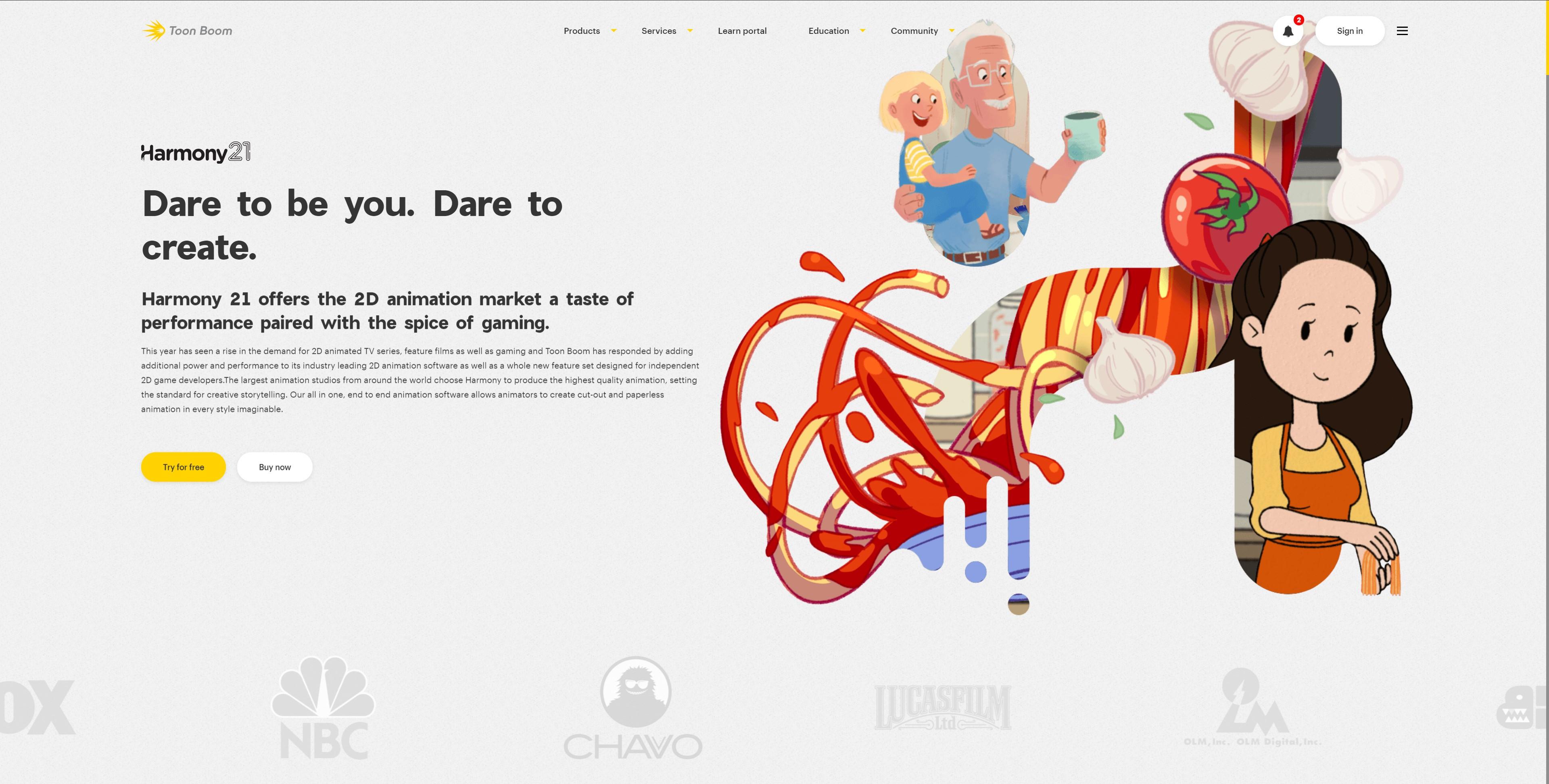 Screencap https://www.toonboom.com/products/harmony