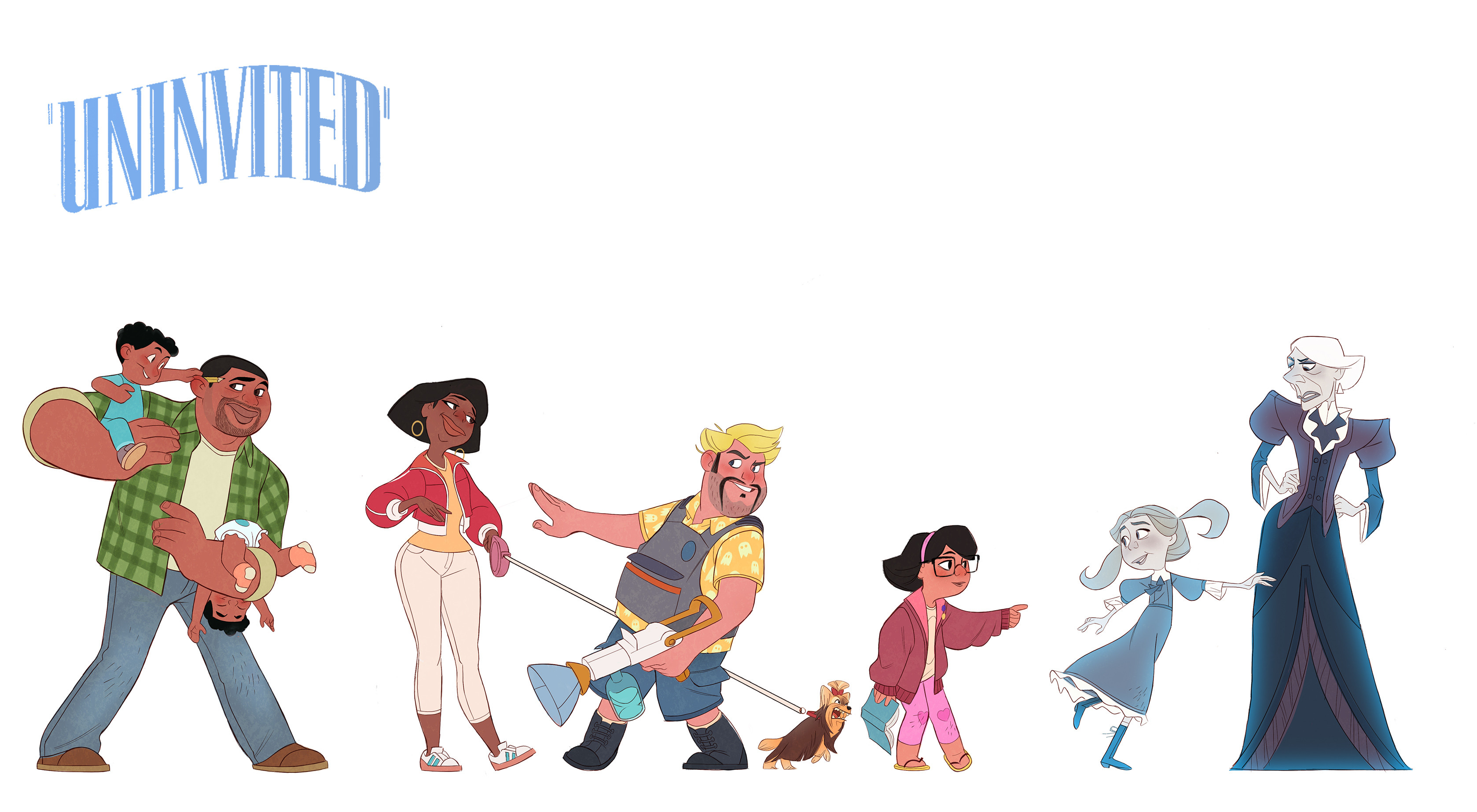 """Final Line up for """"Uninvited"""", a project for """"Character Design Mentorship"""" with Bill Robinson at CGMA"""