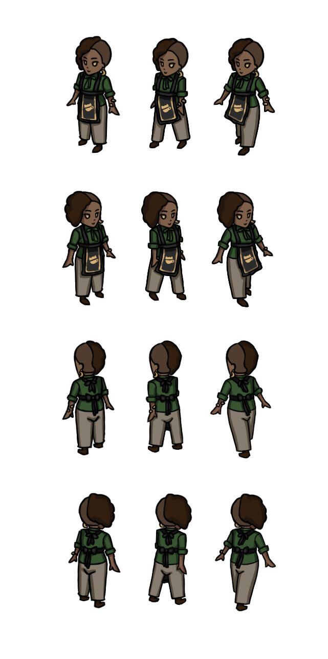 Full character spritesheet (isometric)