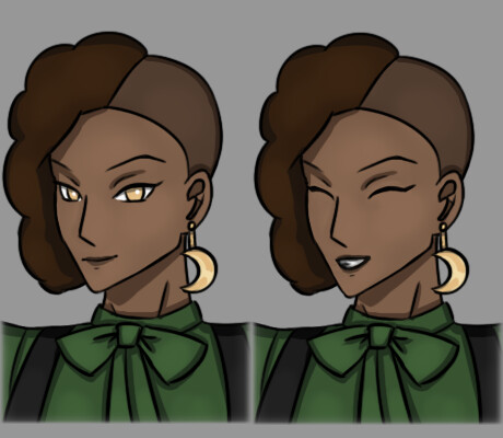 Neutral and Happy expressions (combined for Artstation resolution requirements)