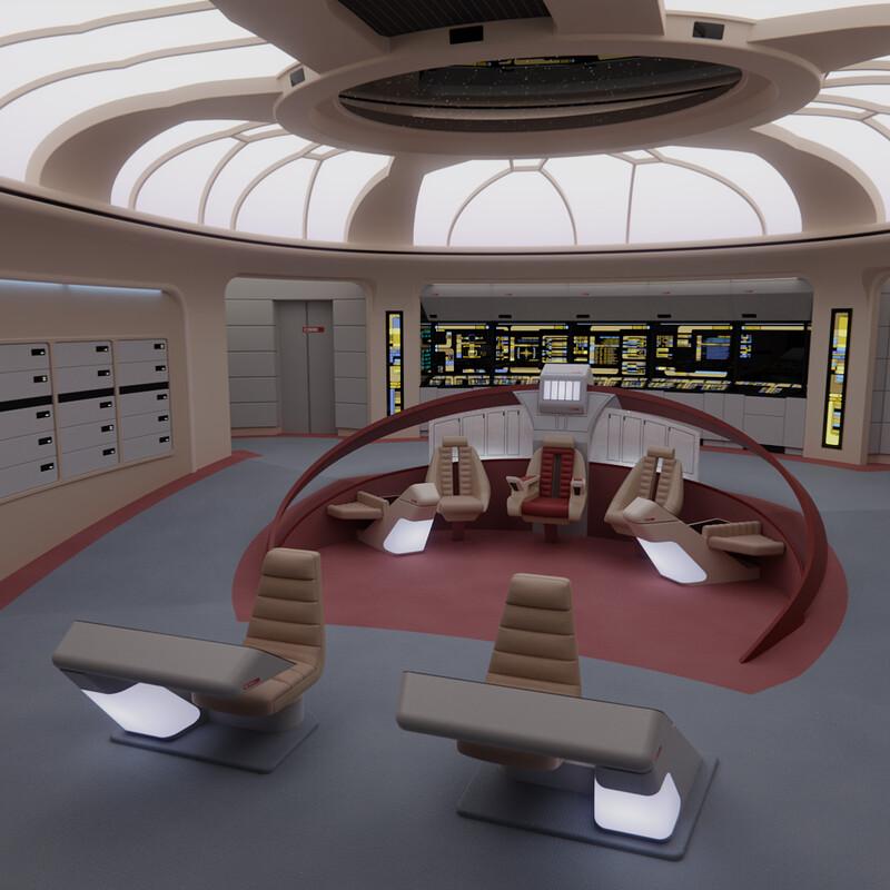 USS Enterprise-D Bridge - 'Parallels' Version N°1