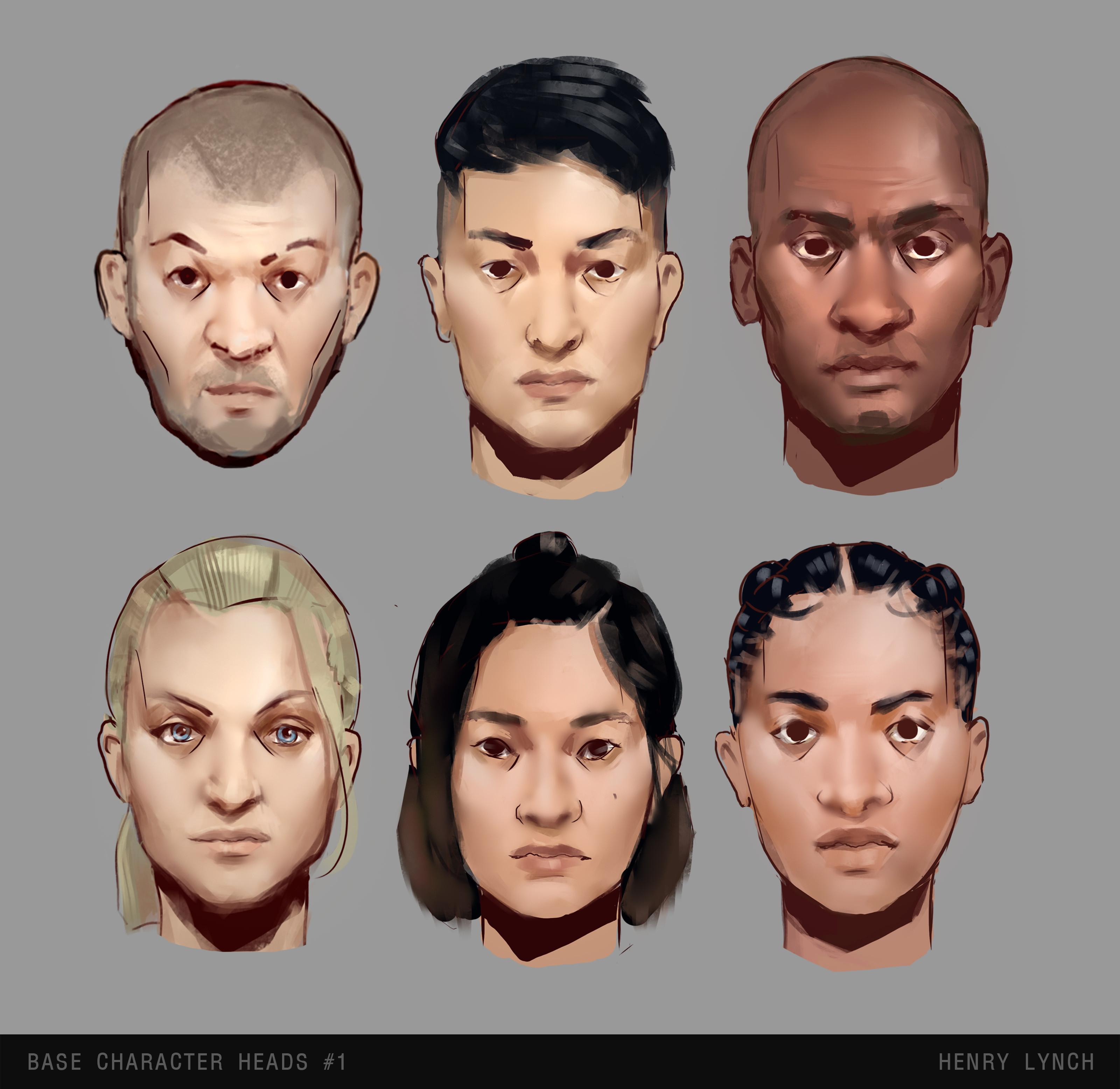 Base Character Head Variants