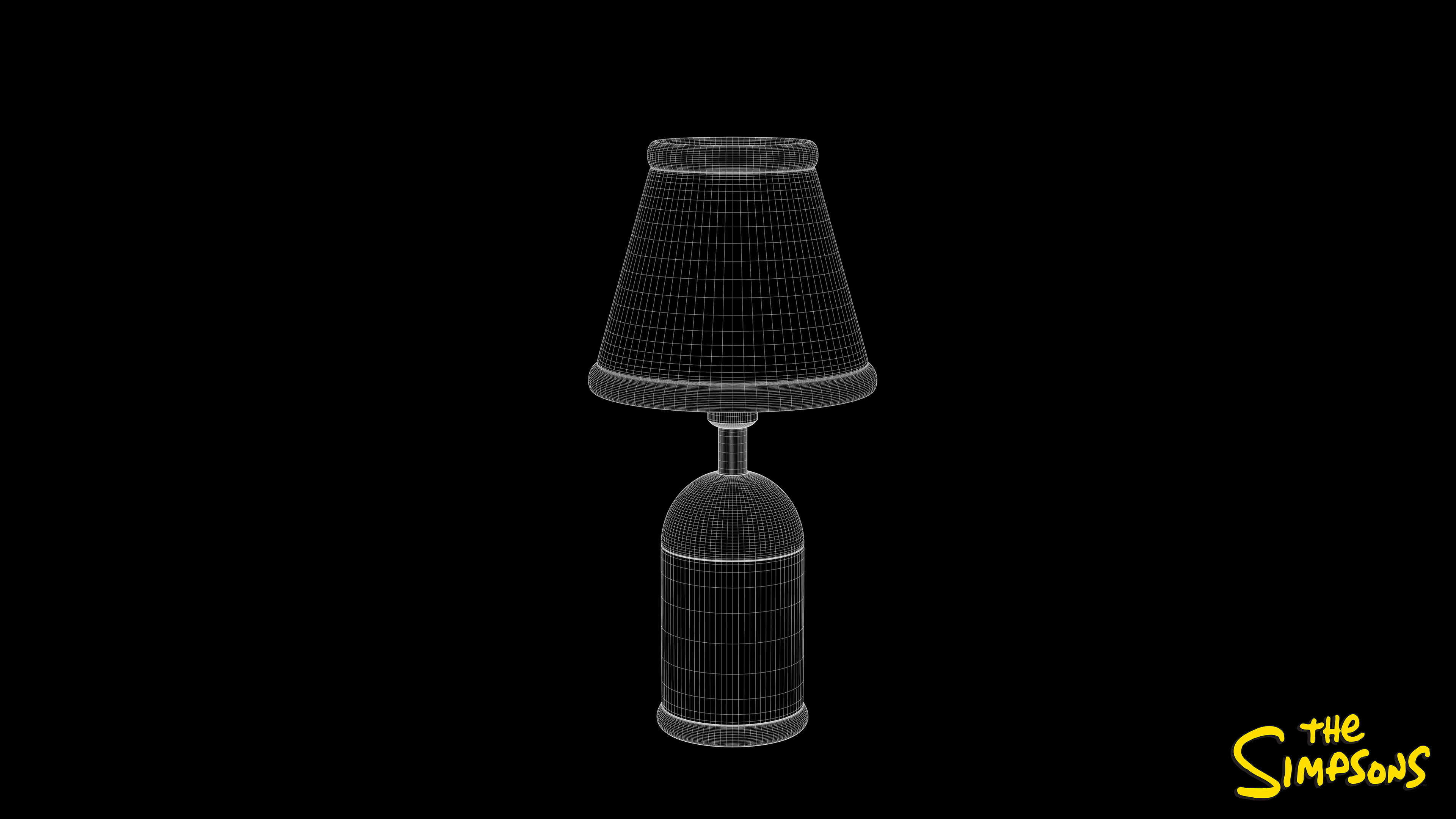 Table Lamp Wireframe