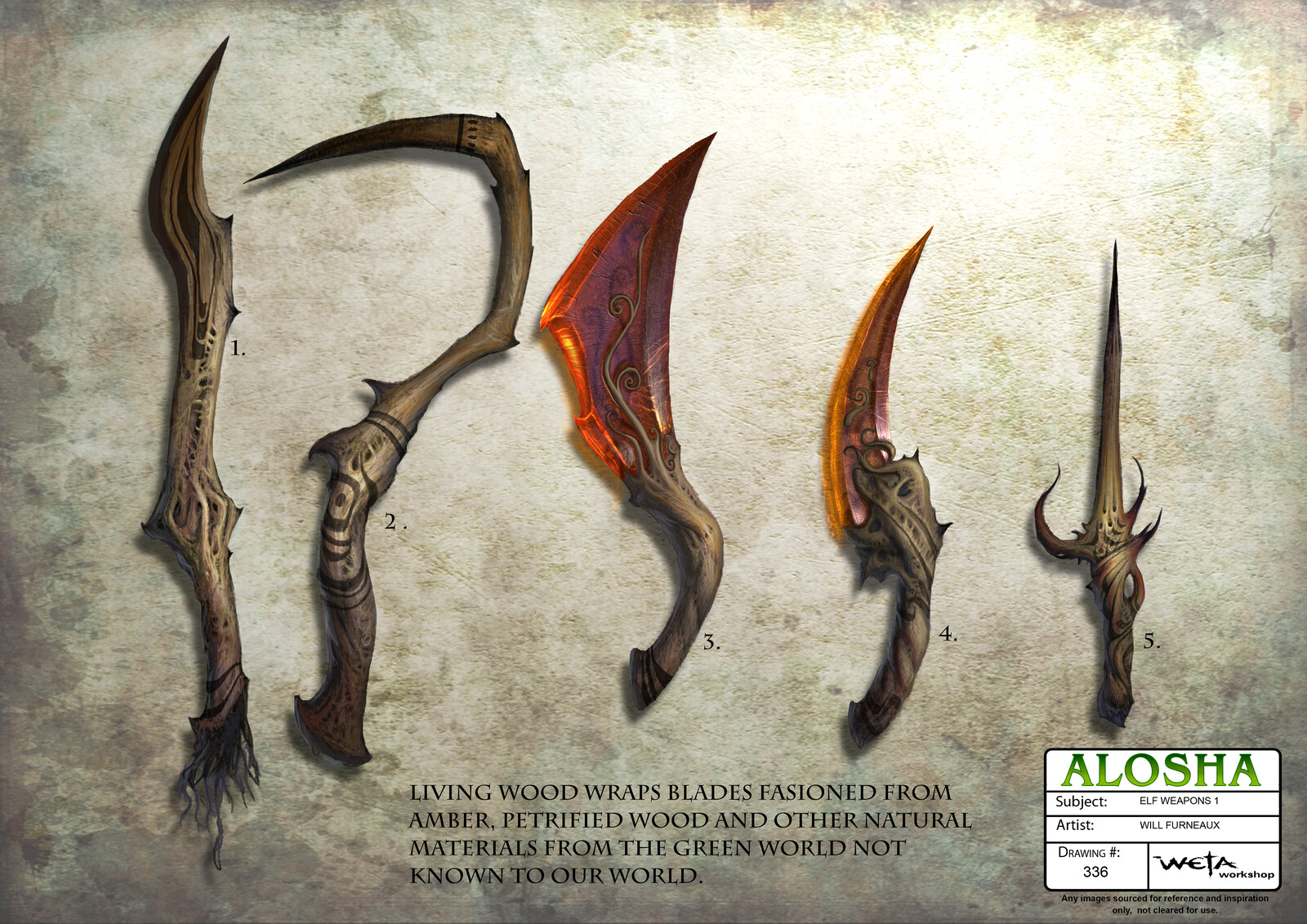 Alosha - Elf Weapons