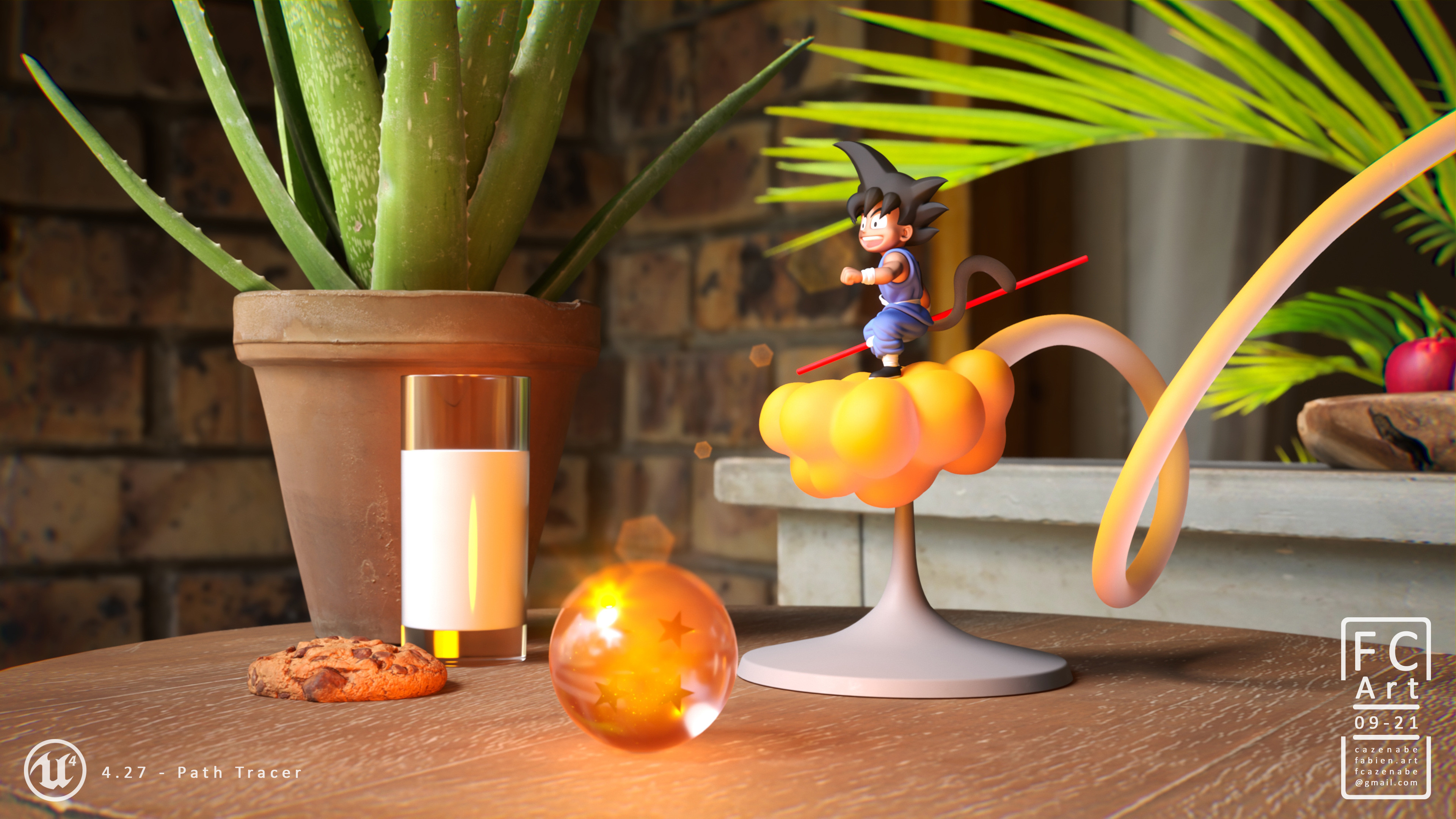 Rendered with Path Tracing in Unreal Engine 4.27