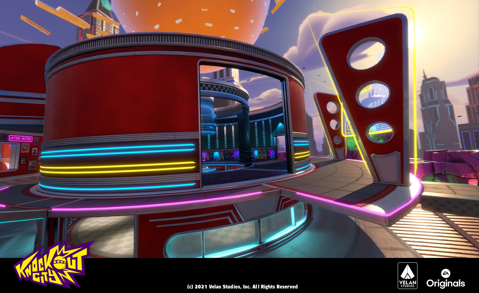 Upper Diner in Galaxy Burger - Worked on this area with Erik McKenney and Michael Andrews