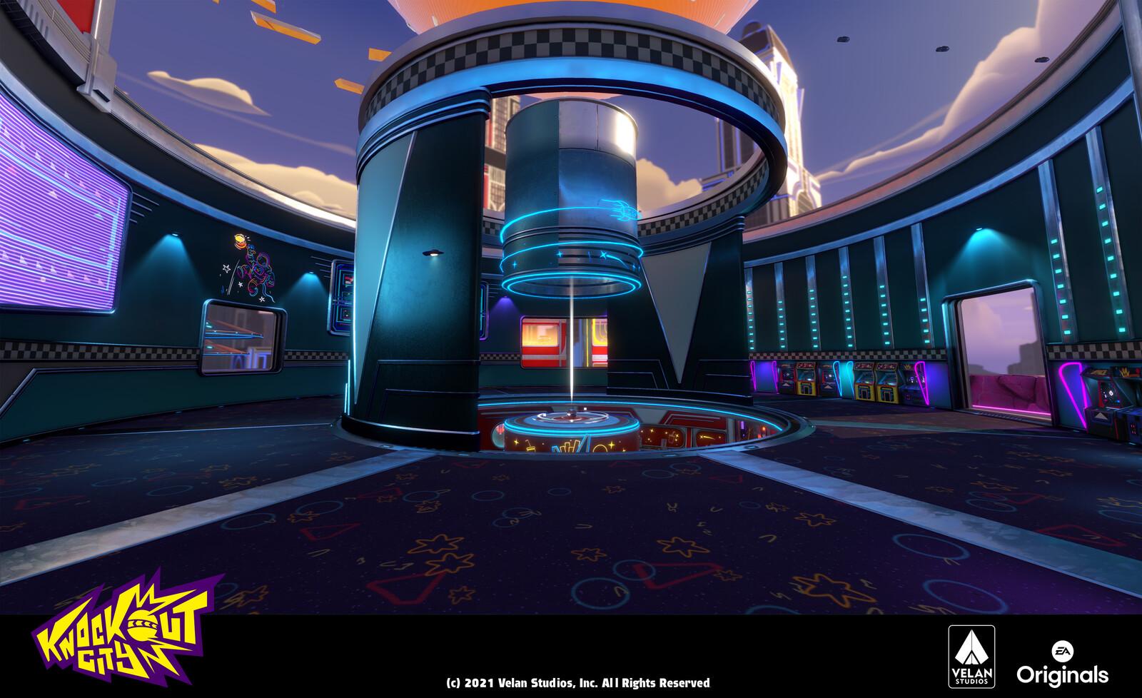 Arcade in Galaxy Burger