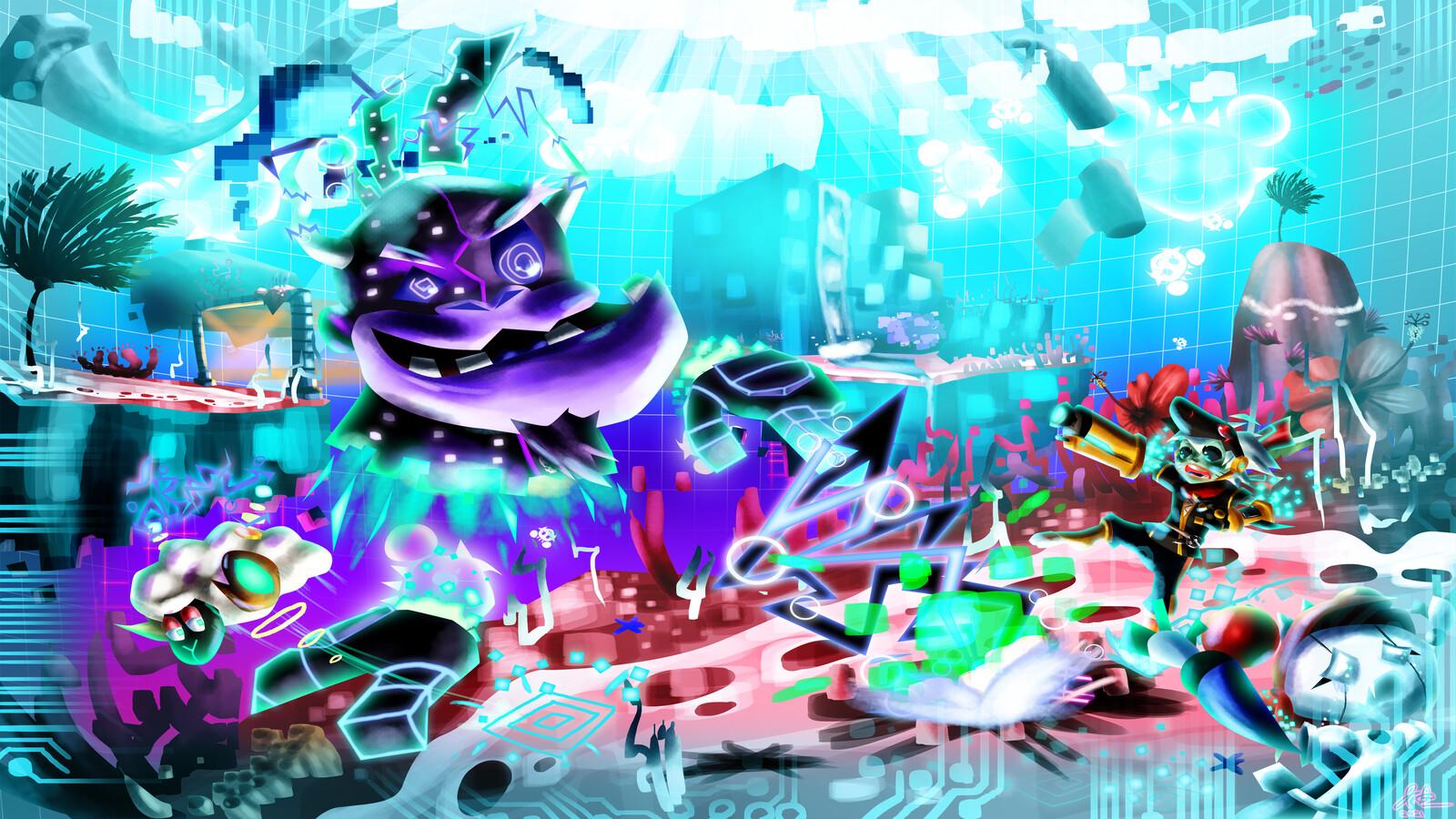 Project Amabie: Gorilla Malware Boss Concept